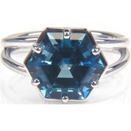 blue topaz 14k white gold ring december birthstone