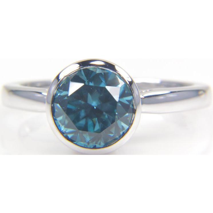blue zircon ring in 14k white gold from bskdesigns