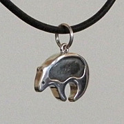 Fetish Style Sterling Silver Bear Charm
