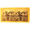 Vintage stereoscopic card  by F. G. Weller of Country Choir