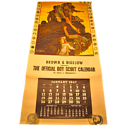 Norman Rockwell calendar Boy Scouts 1947   Brown & Bigelow