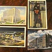 4 Postcards Missouri: Kansas City: C.T. Colortone