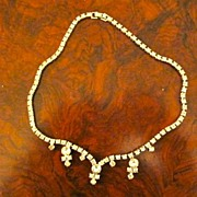 Vintage Rhinestone necklace brilliant and sparkling!