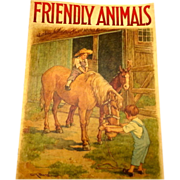 FRIENDLY ANIMALS children's book - Saalfield - Burd