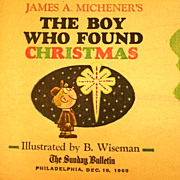 James A. Michener's The Boy Who Found Christmas  Sunday Bulletin 1965