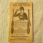 Vintage Ideal Hair Curler advertisement  Lapp Drug Company Philadelphia PA