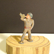 SALE Metal Toy Soldier -  Bugler