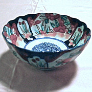 Imari 19th Century Vibrantly Hand Painted Japanese Bowl