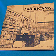 Sotheby's Important Americana Printed and Manuscript Documents Auction Catalogue