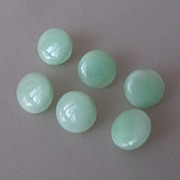 SOLD 6 Czech Vintage Vaseline Uranium Glass Buttons