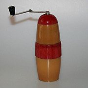 Vintage Bakelite Art Deco 1930's Travel Coffee Grinder Czechoslovakia Marked