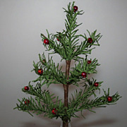 SALE Antique Vintage German Victorian 6&quot; Feather Christmas Tree