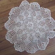 "27"" Diam.Hand Crochet Table Centerpiece Doily Czechoslovakia"