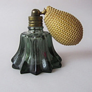 SOLD Miniature Vintage Glass Perfume Flacon Czechoslovakia