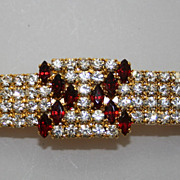 Vintage Rhinestone Hair Barrette Czech 1960s