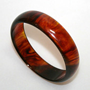 Vintage Caramel Bakelite Bangle Bracelet