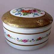 SALE Vintage French Porcelain Limoges Trinket Box Alexandra Hand Painted Marked