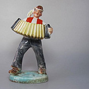 Ditmar Urbach Marked Art Deco 1920s Figurine Vintage Pottery Czechoslovakia