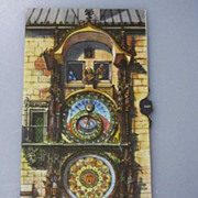 Kubasta Prague's Astronomical Clock ORLOJ Mechanical Postcard Vintage
