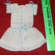 SOLD Lovely vintage crochet doll dress