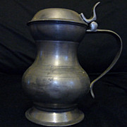 Lidded Pewter Baluster