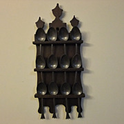 Pewter Spoons and Spoon Rack