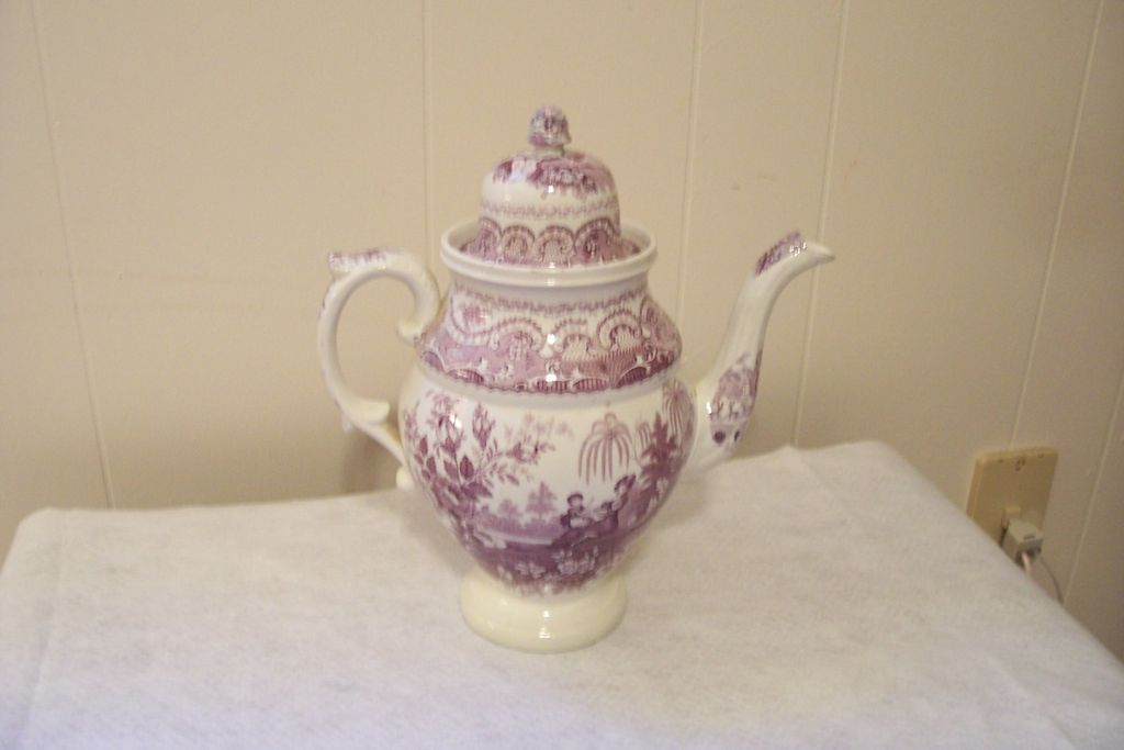 "Stoneware ""Mulberry"" Coffee Pot"