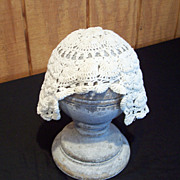 Hand Crocheted Baby Bonnet, circa 1900