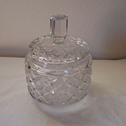 Biscuit Jar, Cut Glass