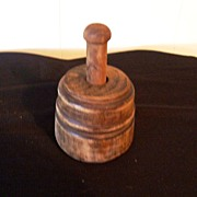 SOLD Primitive Wood Butter Mold