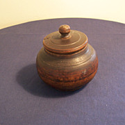 Antique Treen-ware Jar