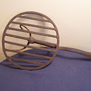Antique Primitive Hand-Wrought CI Fireplace Trivet