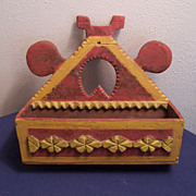 Folk Art - Tramp Art Wall-Box