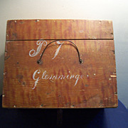 1800's Grain Painted Document Box