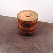 Antique Treen-ware Canister with lid, 1800's