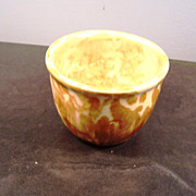 Yellow-ware cup/bowl, small, late1800's
