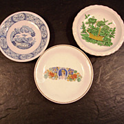 Collectible Butter-pats, set of three (3)