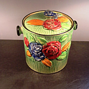 Majolica Biscuit/Cookie Jar circa 1890