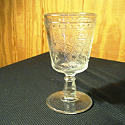 "EAPG Goblet, ""Horseshoe/Good-luck"" Pattern"