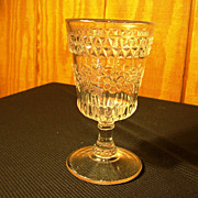 "EAPG Goblet, ""Wildflower"" Pattern by Adams & Co, Circa 1870"