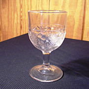"EAPG Goblet, "" Thistle"" Pattern by Bryce Walker, 1870's"