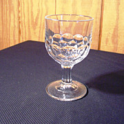 "EAPG Goblet, "" Honey-Comb & Diamond"" Pattern, 1860's"