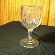 "EAPG Goblet, ""Magnet & Grape"" pattern by Pittsburgh, 1870's"
