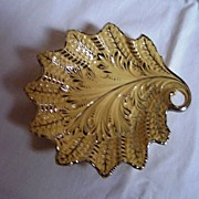Antique Mettlach Leaf Dish