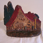 Folk Art Doorstop, CI, Cottage