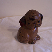 Folk Art Doorstop, CI, Boston Terrier Puppy