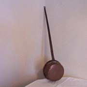 SOLD Primitive,  Long Handled Copper Pot