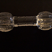 Knife-rest, Victorian period Cut Glass