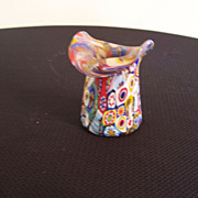 Tooth-pick Holder, Murano Millefiori Glass