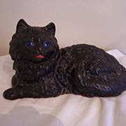 Folk Art Doorstop, CI Persian Cat